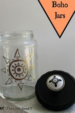 boho jars, crafts