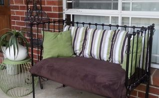 upcycled antique cot, painted furniture, repurposing upcycling