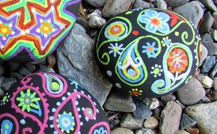 pretty yard art with liquid chalk markers, crafts