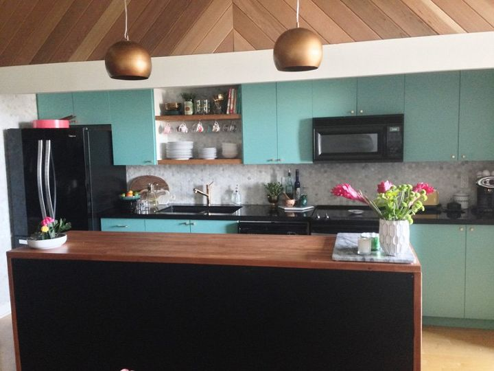 Modern vintage kitchen makeover hometalk - Modern vintage kitchen ...