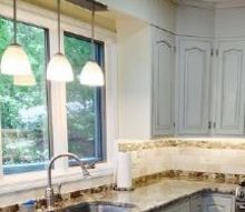 five ways to update your kitchen, home improvement, kitchen cabinets, kitchen design, After with new lighting