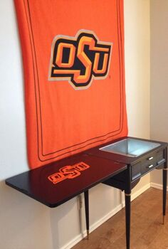 repurposed sewing cabinet into cooler for the ultimate football fan, painted furniture, repurposing upcycling