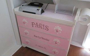 french changing table make over, painted furniture, repurposing upcycling, shabby chic