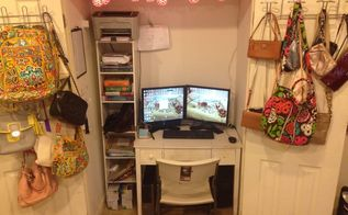 my office nook, closet, home office