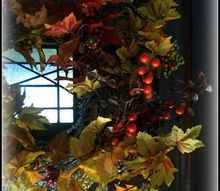 turn a christmas wreath into a fall wreath, crafts, repurposing upcycling, seasonal holiday decor, wreaths