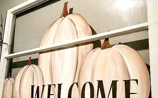 welcome fall window, crafts, fireplaces mantels, repurposing upcycling, seasonal holiday decor