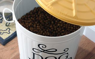 chic dog food storage, repurposing upcycling, storage ideas