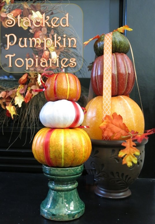 how to make a stacked pumpkin decoration crafts halloween decorations how to - Pumpkin Decoration