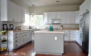 diy painted kitchen cabinet update reveal, kitchen cabinets, kitchen design, painting