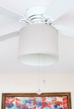 add a drum shade to a ceiling fan, diy, home decor, lighting, repurposing upcycling