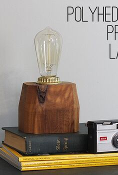 diy polyhedron prism lamp, crafts, diy, lighting, woodworking projects