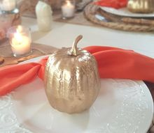 easy to transform gold pumpkins, crafts, fireplaces mantels, halloween decorations, seasonal holiday decor
