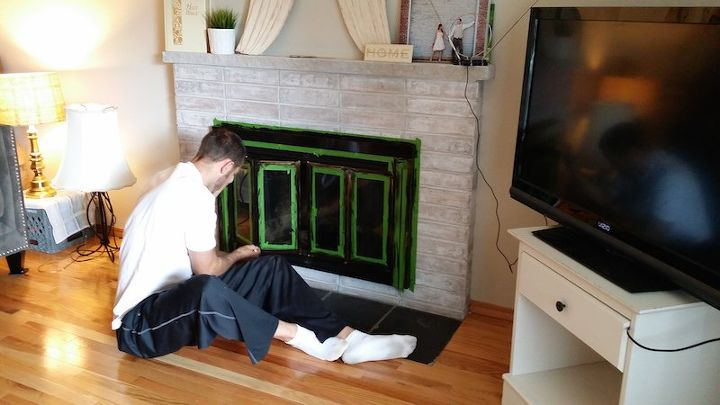 Diy Fireplace Makeover In One Weekend Under 100 Fireplaces Mantels Painting
