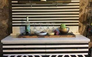 geometric wine bar septfabflippingfurniturecontest, painted furniture, repurposing upcycling