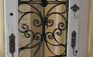 diy project old door repurposed into romantic shabby chic decor, doors, home decor, repurposing upcycling, shabby chic