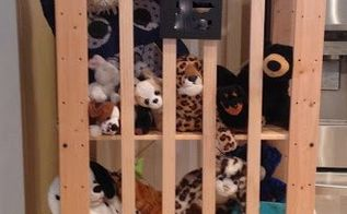 simple stuffed animal storage on the cheap, diy, storage ideas, woodworking projects