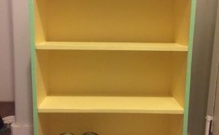 ugly brown bookshelf gets a makeover, painted furniture