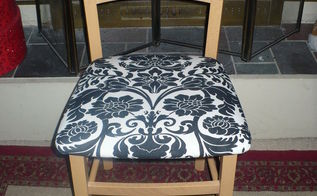 discarded chair makeover, painted furniture, reupholster