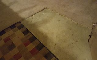 q i have old dirty carpet over concrete i want to use the concrete and, concrete masonry, diy, flooring, how to, painting