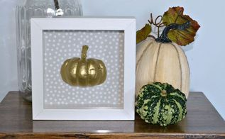 easy pumpkin shadow box, crafts, halloween decorations, seasonal holiday decor