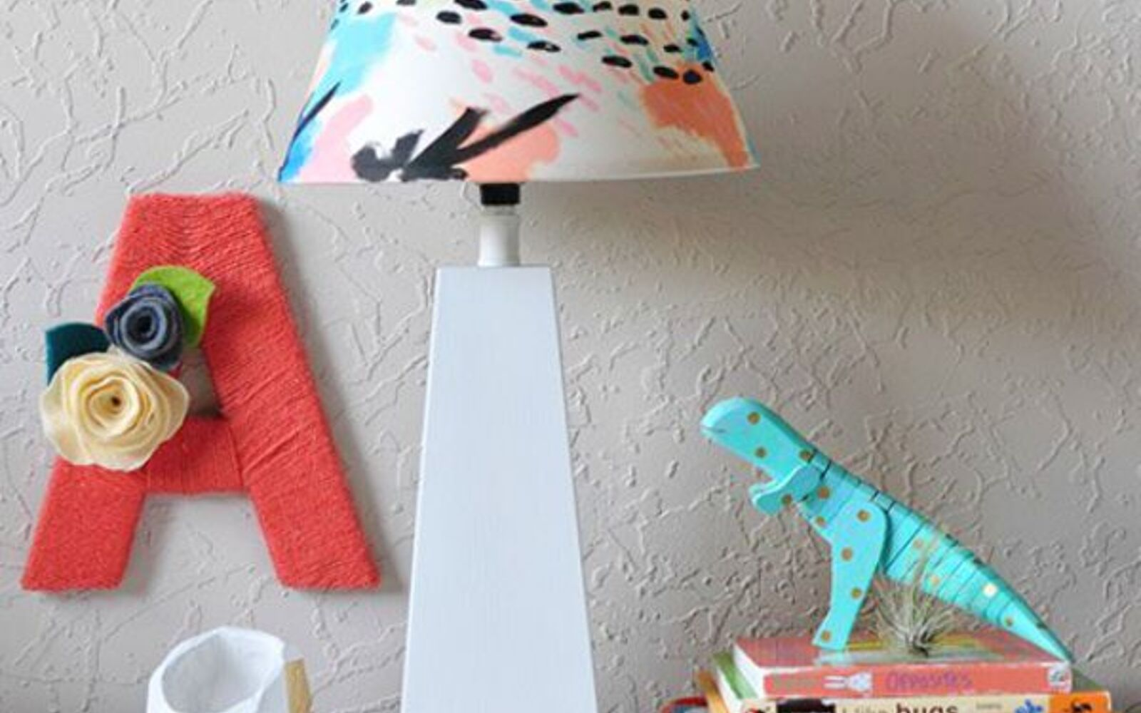 s 11 designer decor looks you can make on the cheap, crafts, home decor, Colorful Lampshade Land of Nod