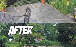 pond renovation before after, landscape, ponds water features