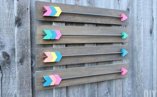 create your own arrow wall decor, crafts, home decor, wall decor