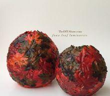 diy fall leaf bowl, crafts