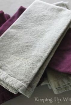 smooth crisp cloth napkins no iron needed, cleaning tips