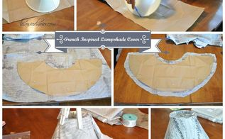 french inspired decor, diy, lighting, repurposing upcycling, French Inspired Lampshade Covers