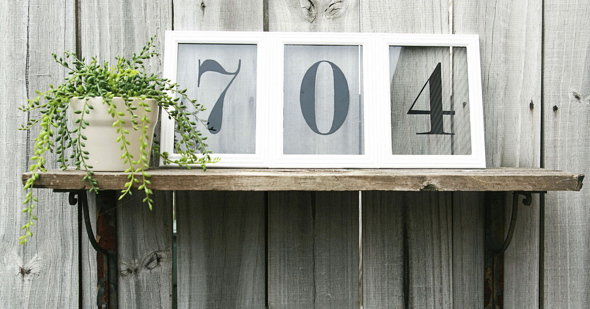 Picture frame house numbers hometalk for House number frames