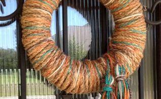 Yarn Ball Wreath Cheap Version Hometalk