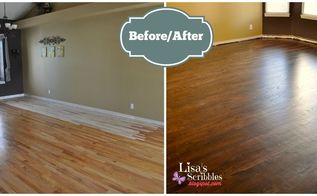 project of the day living room makeover part 3, hardwood floors, home improvement, living room ideas