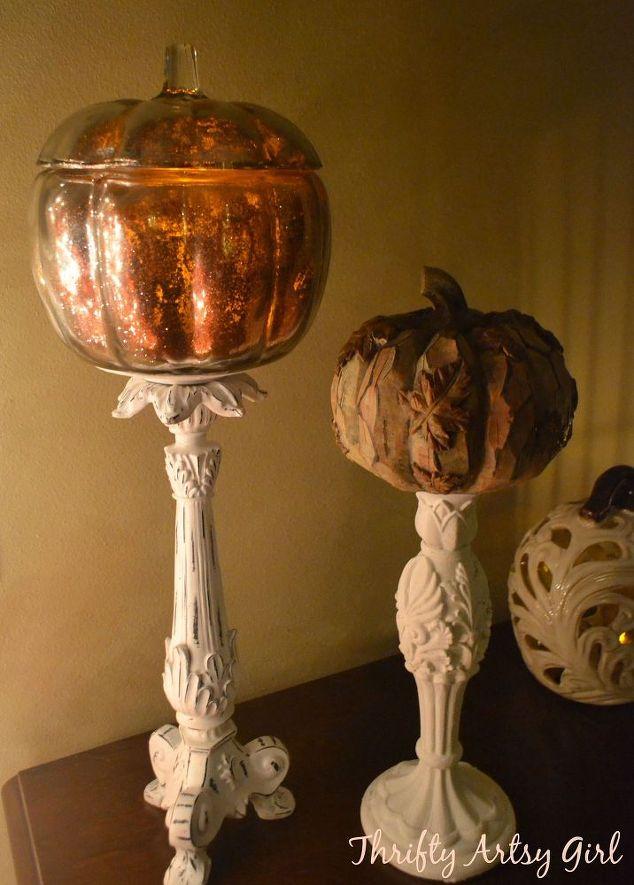diy gold glitter mercury glass pumpkin crafts halloween decorations home decor how - Glitter Halloween Decorations