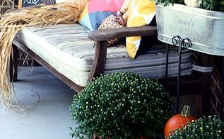 fall porch reveal, outdoor living, porches, seasonal holiday decor
