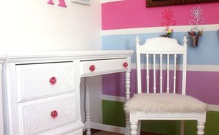 girls bedroom furniture reveal, bedroom ideas, painted furniture, painting, wall decor