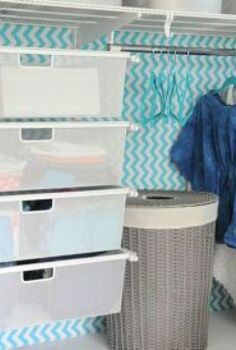 tween girl s closet update in turquoise, bedroom ideas, closet, organizing, shelving ideas