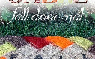 ombre fall door mat, crafts, seasonal holiday decor