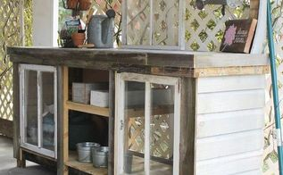 how to build a reclaimed wood potting bench