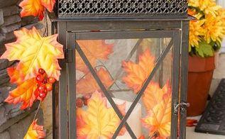 turn a basic lantern into a gorgeous outdoor fall d cor accessory, seasonal holiday decor