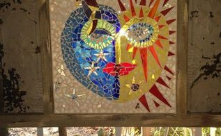 fiercely fun glass mosaic window, crafts, LOVIN THE FINISHED LOOK