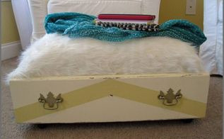 drawer finds a new life as a storage ottoman, painted furniture, repurposing upcycling, storage ideas