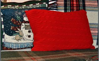 an upcycled sweater pillow, crafts, repurposing upcycling