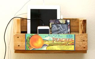 pallet scrap charging station, diy, organizing, pallet, repurposing upcycling, woodworking projects