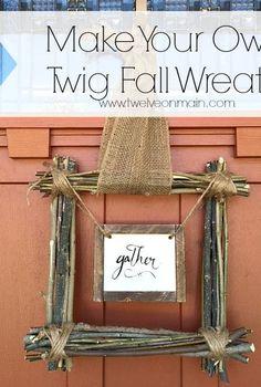 make your own fall twig wreath, crafts, seasonal holiday decor, wreaths