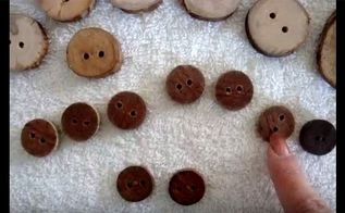 make wooden buttons from broom handles or tree branches, crafts, how to, woodworking projects