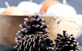 diy scented wax pine cones, crafts, diy, gardening, home decor