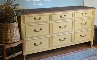autumn inspired dresser, painted furniture