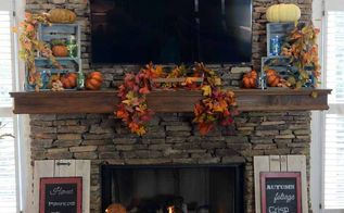 fall mantel, fireplaces mantels, home decor, seasonal holiday decor
