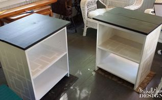 guest room bedside tables, chalk paint, chalkboard paint, painted furniture